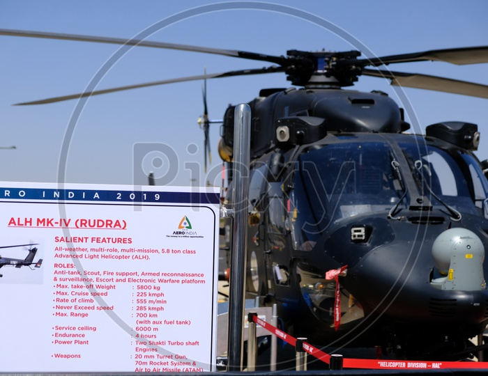 HAL Rudra is the Armed Version of ALH Dhruv at Bangalore Aero India Show 2019