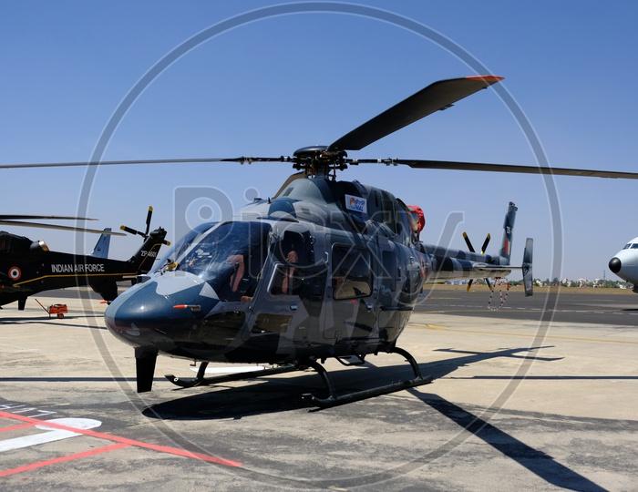 HAL Light Utility Helicopter at Bangalore Aero India Show 2019