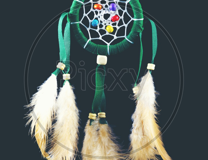 Dream Catcher On an isolated Black Background