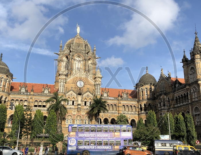 Mumbai Central Railway Station CSMT  Building View From Outside