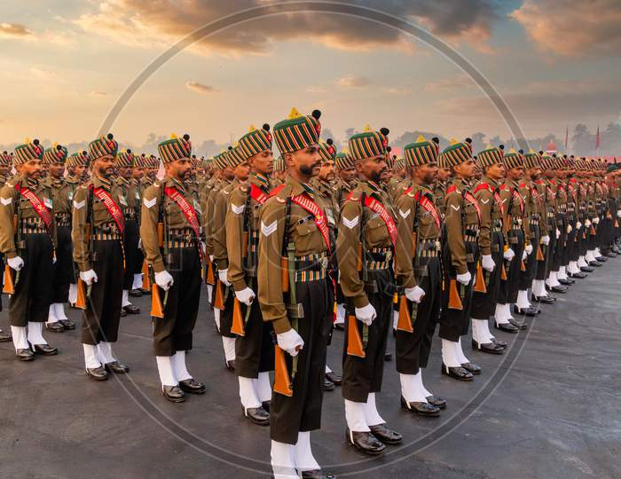 Madras Regiment of Indian Army during Army Day