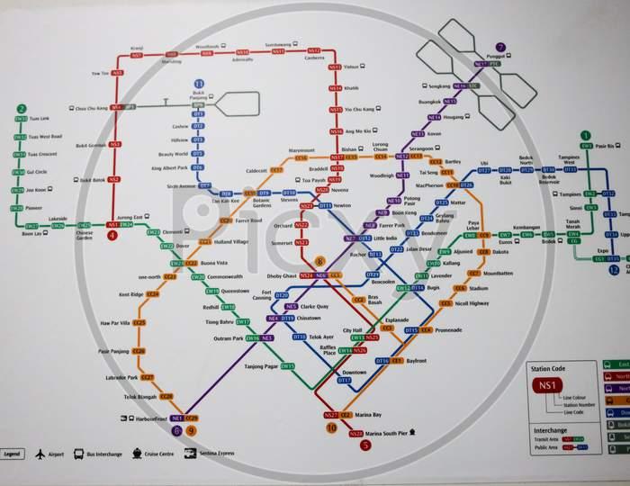 Singapore metro route map