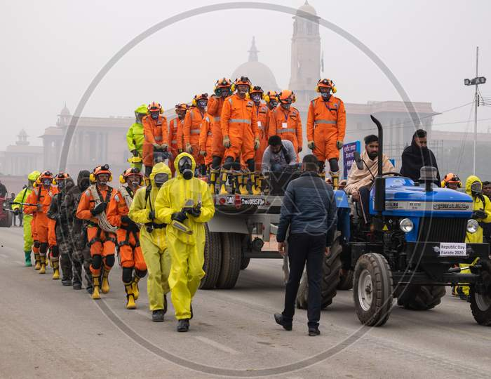 National Disaster Response Force NDRF Doing Parade Rehearsal For 71st Republic Day 2020