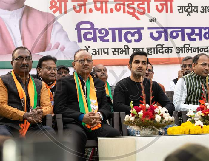 Bharatiya Janata Party BJP Leaders and candidates campaigning for Delhi Assembly election 2020