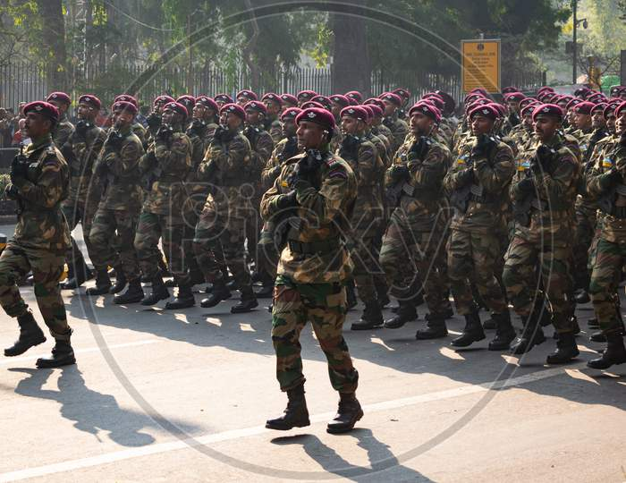 Indian Army Para Commandos Doing parade on 71st Republic Day 2020