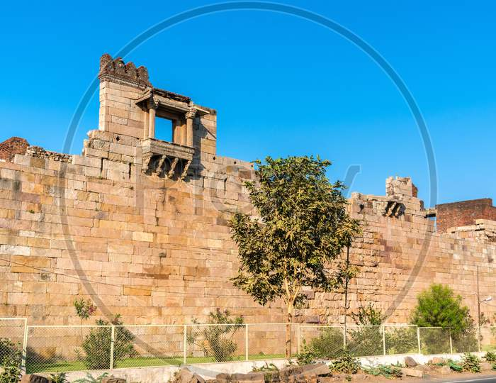 Walls Of Champaner Fort - Unesco Heritage Site In Gujarat, India