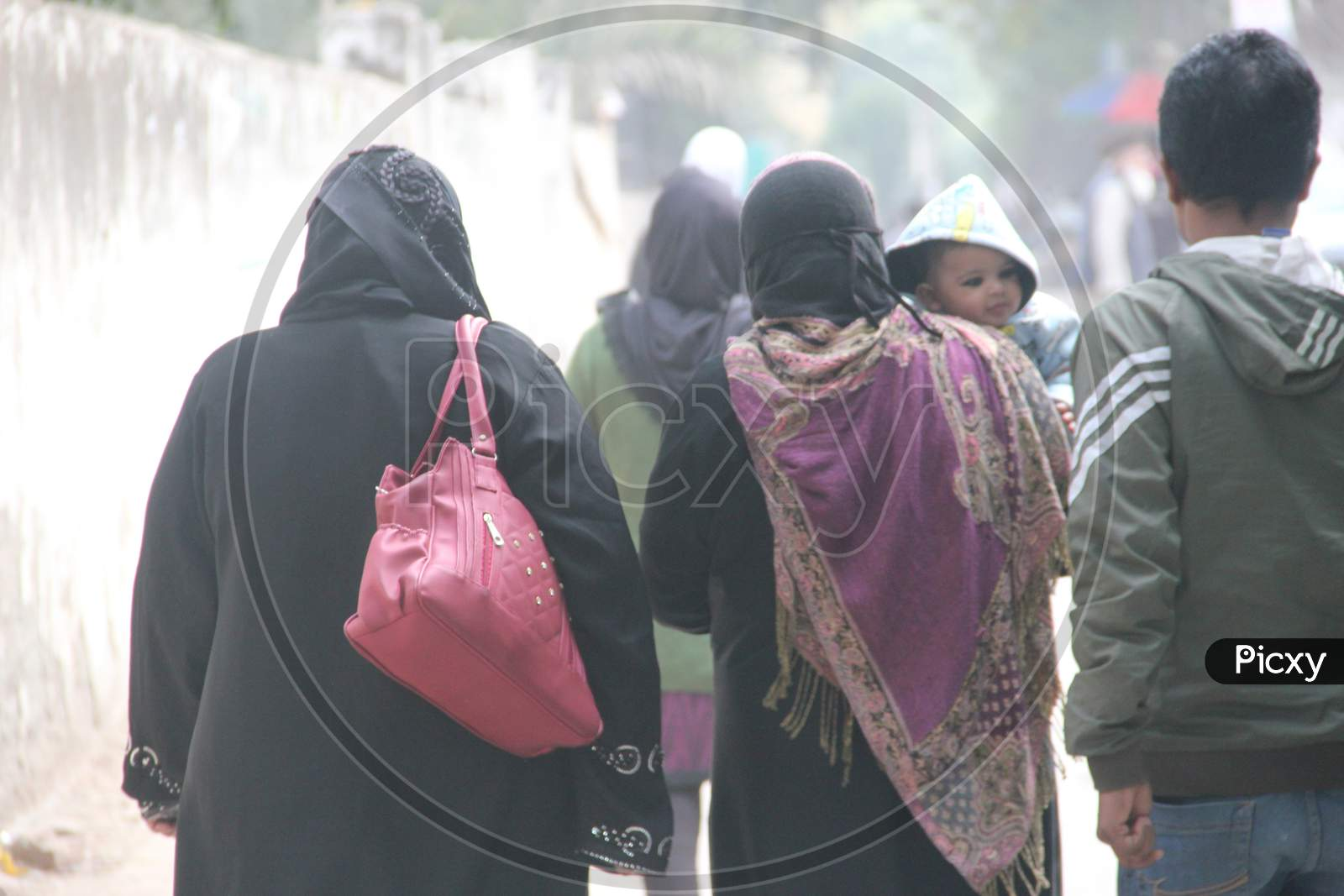 Muslim Woman On The Streets Of Delhi