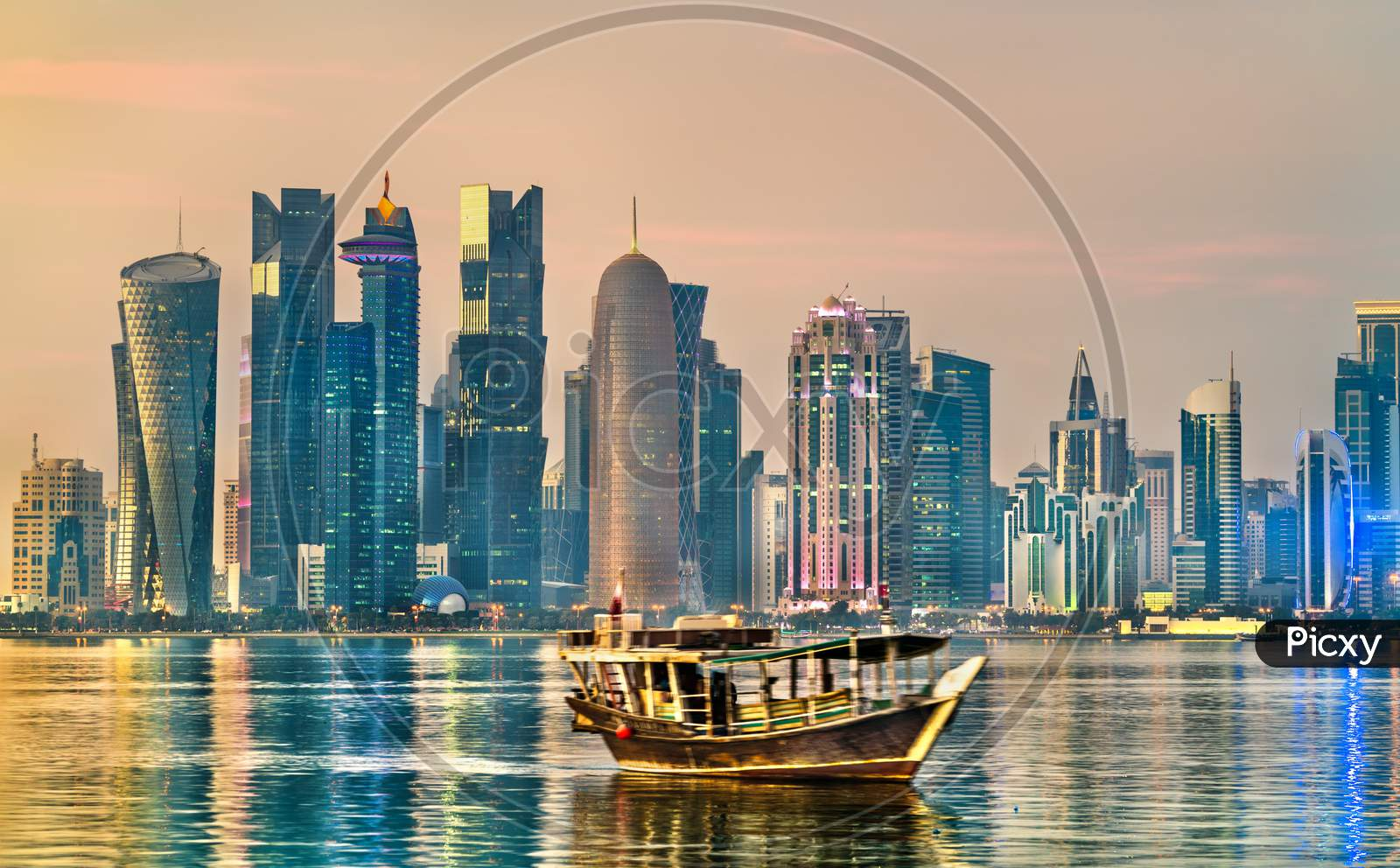 Dhow, A Traditional Wooden Boat, In Doha, Qatar