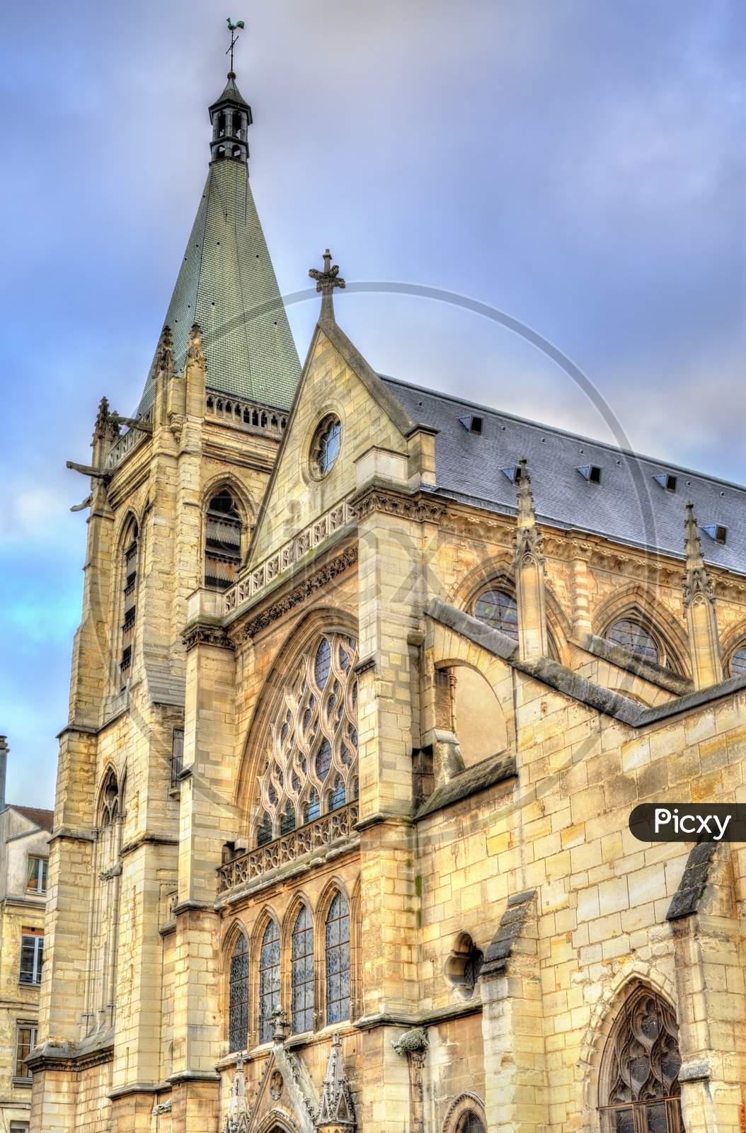 Saint Severin Church In The Latin Quarter Of Paris