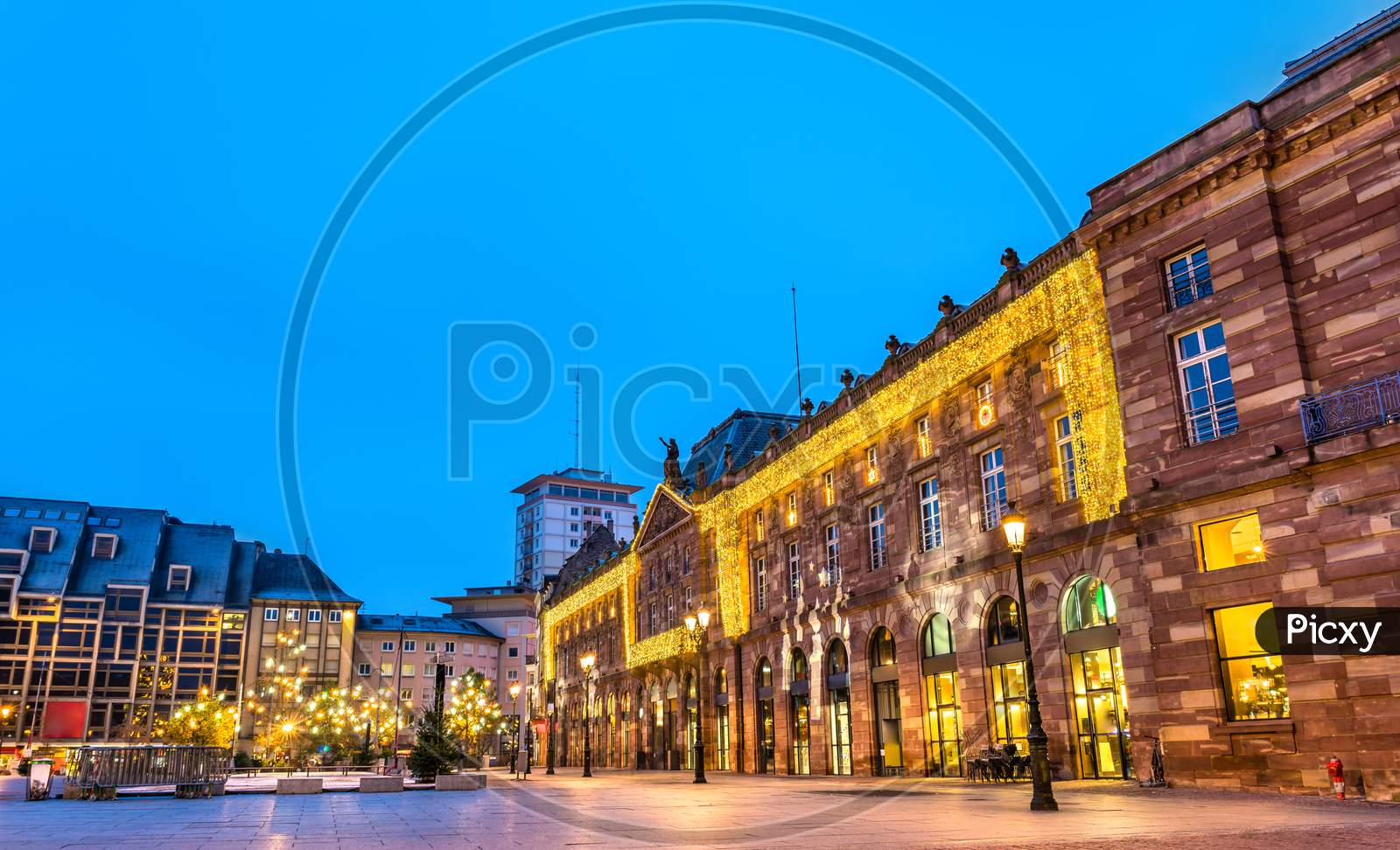 Aubette, A Historical Building In Strasbourg Decorated For Christmas. France
