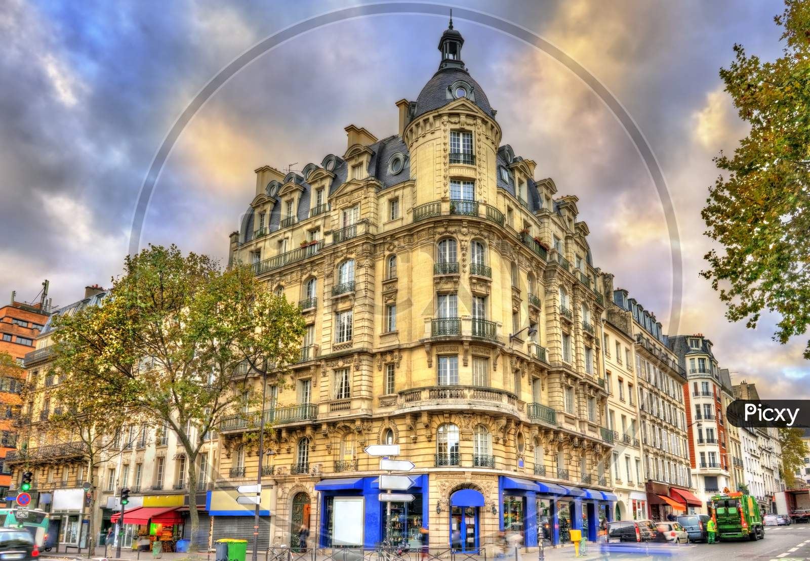 Typical Buildings In Paris, France