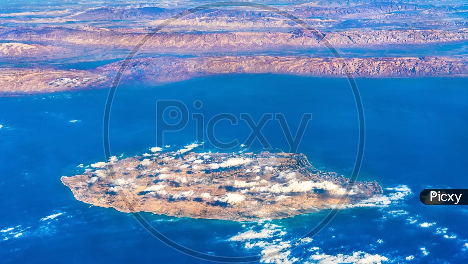 Aerial View Of Kish Island In The Persian Gulf, Iran