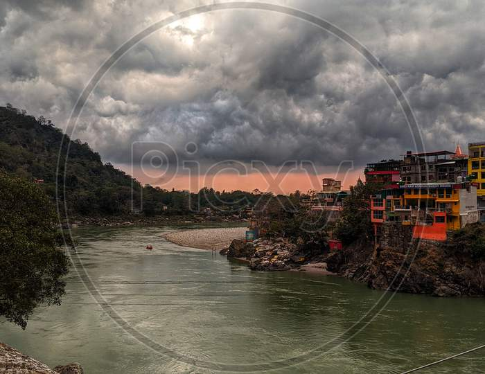 Rishikesh evening view