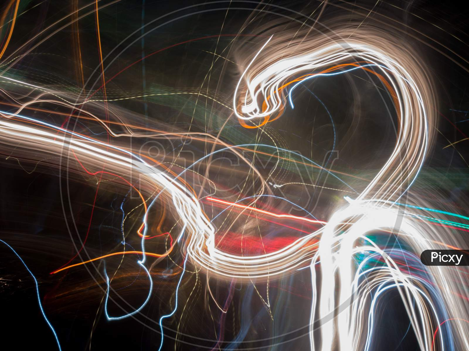 Light painting from various kind of light sources