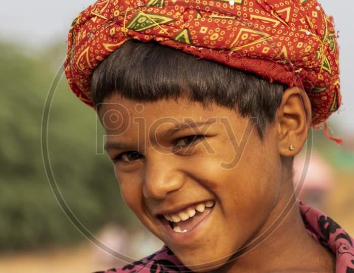 A tribal boy in Rajasthan, India