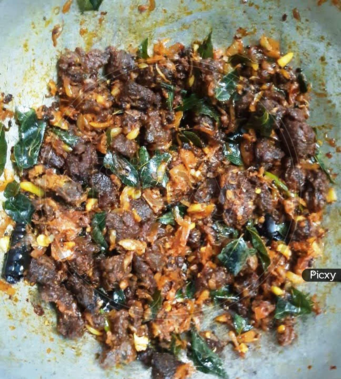 Meat dry fry