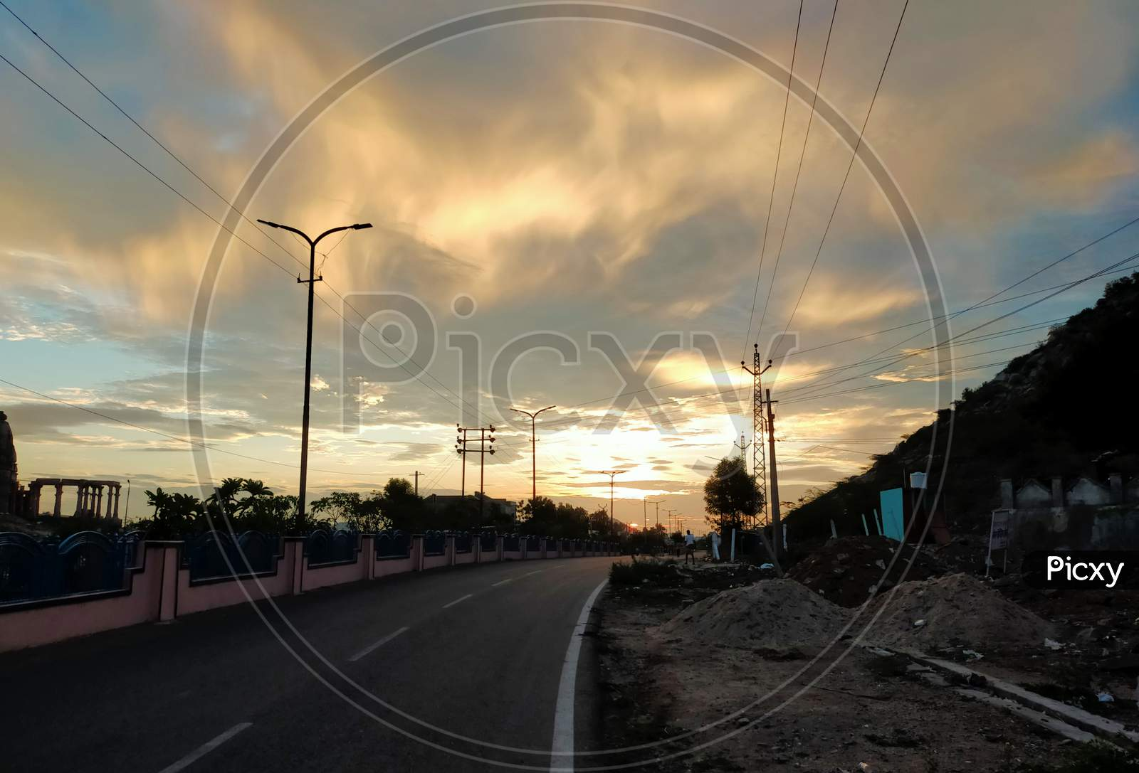 The Dawn and it's ray on Road