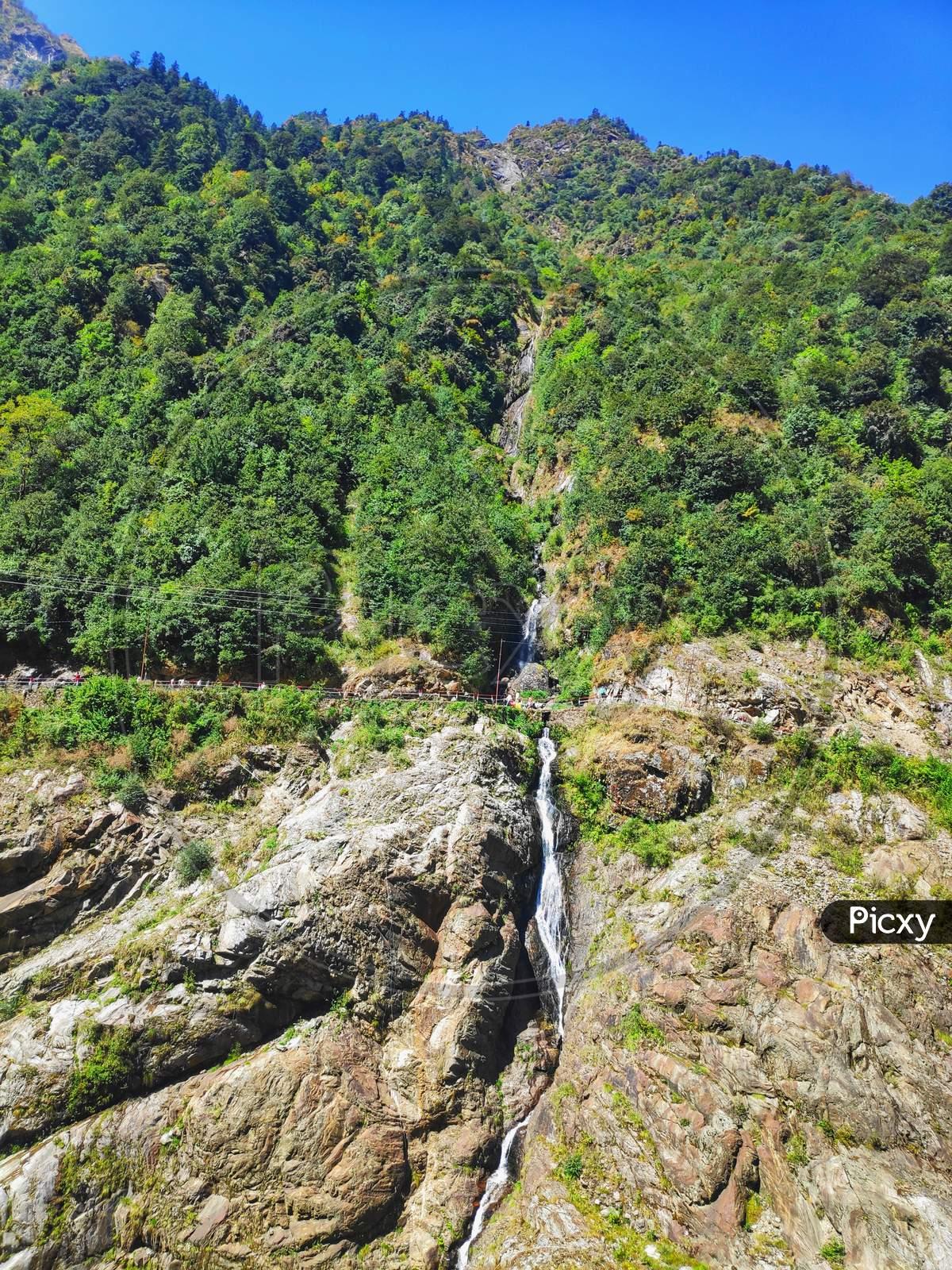 Waterfall in kedarnath