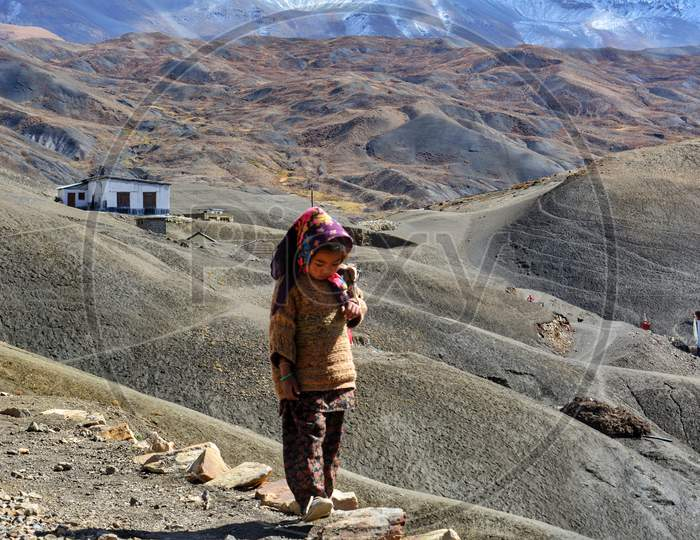 A little village from Langza in Spiti Valley