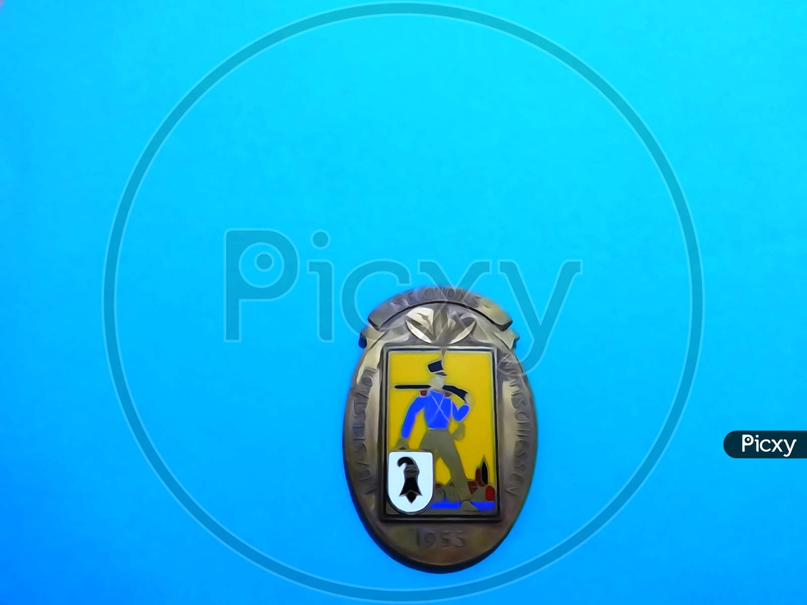 medal blue background