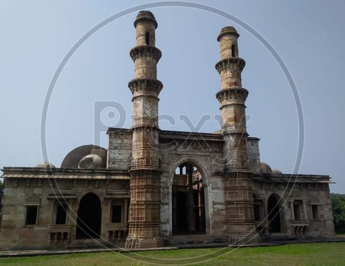 Jami mosque from pavagadh champaner Gujarat India