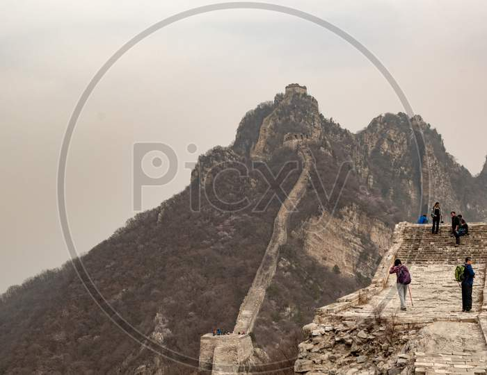 Jiankou, Unrestored Section Of The Great Wall Of China In The Huairou District