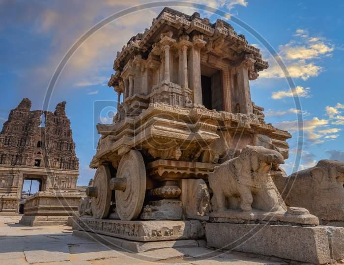Stone Chariot in Vittala Temple Complex in Hampi