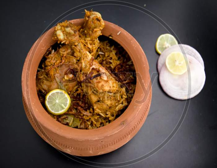 Pot Chicken Biryani