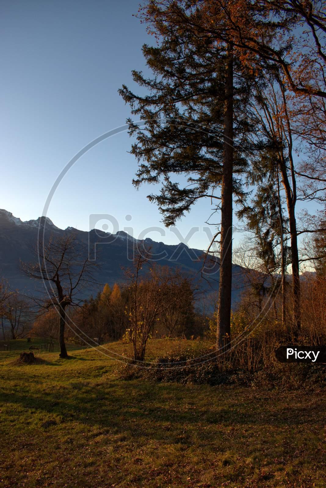 Autumn mood in Triesenberg in Liechtenstein 18.11.2020