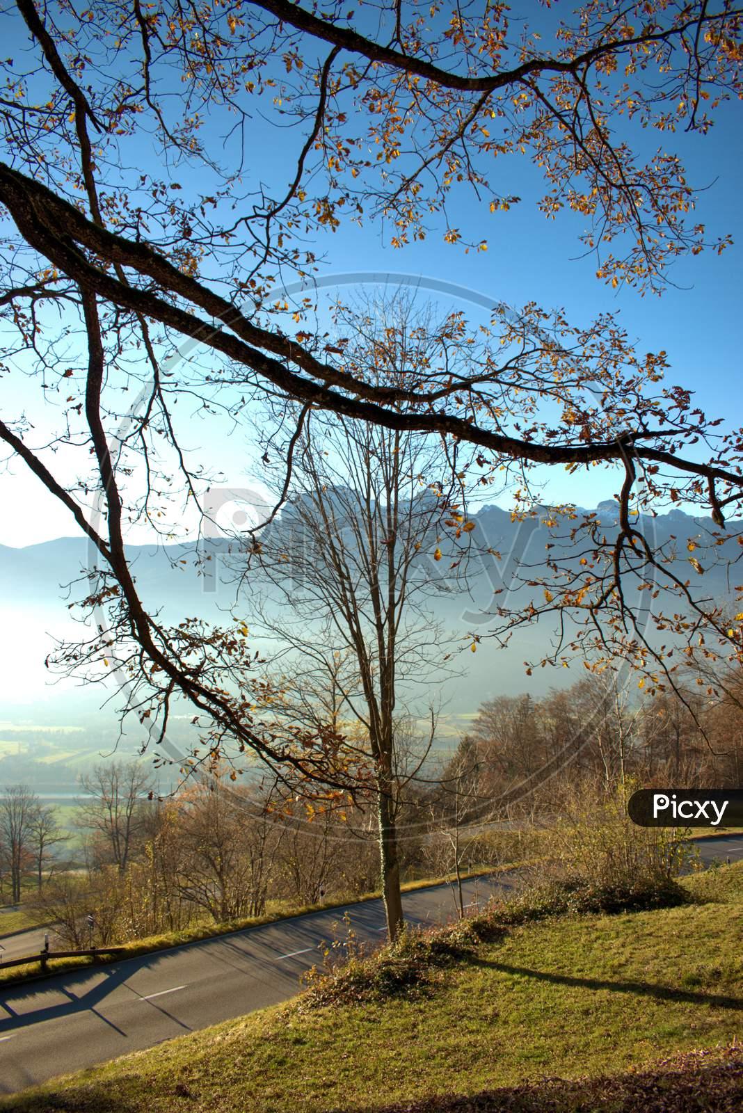 Fantastic autumn mood scenery from Triesenberg in Liechtenstein 18.11.2020