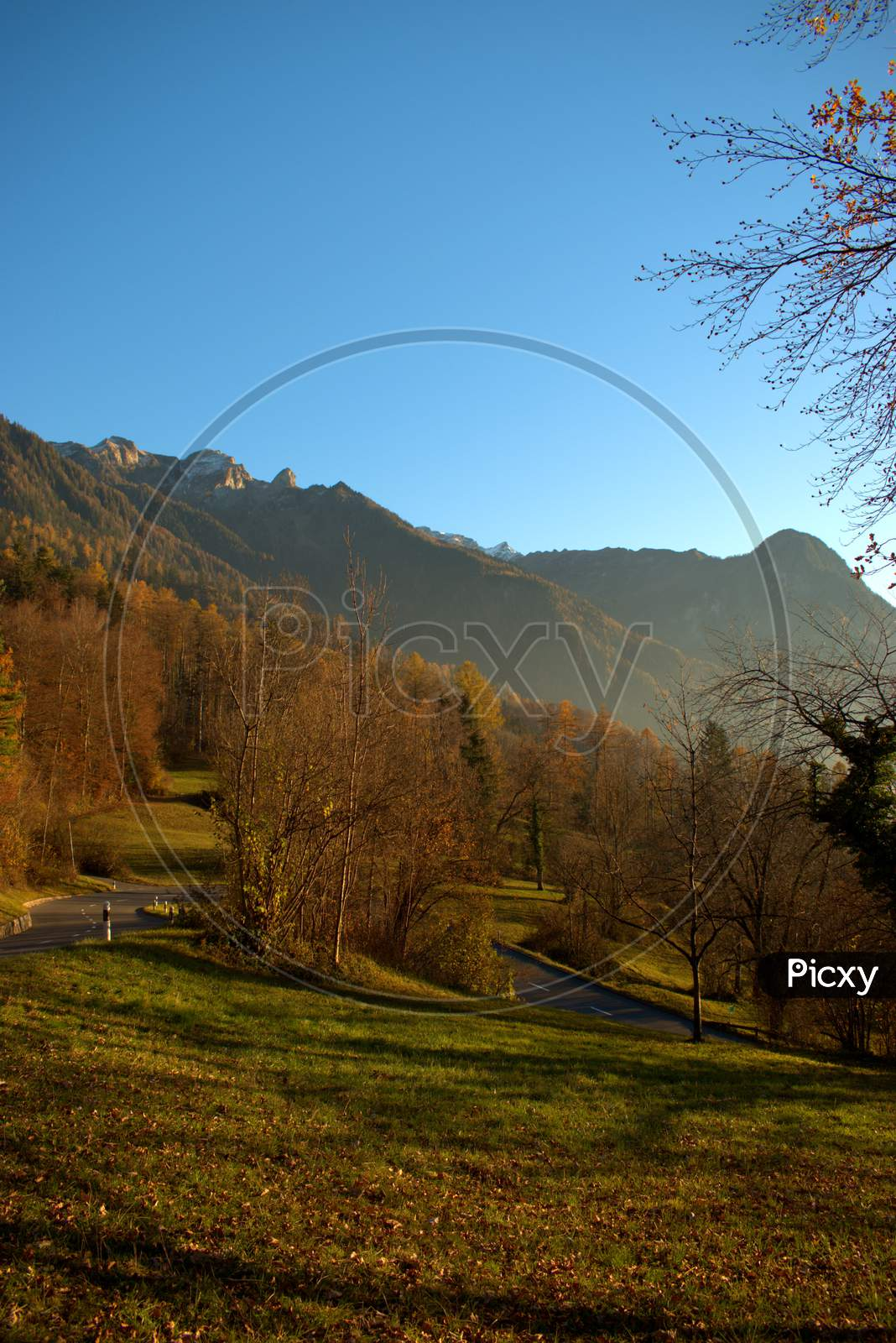 Autumn mood in Triesenberg in Liechtenstein 18.11.2020