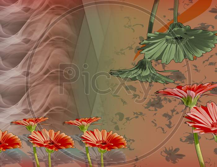 Digital textile design and colourfull background sadi and repeat pattern, fabric and seamless