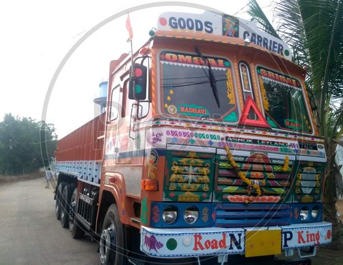 Ashok Leyland Lorry at Peddamungalachedu