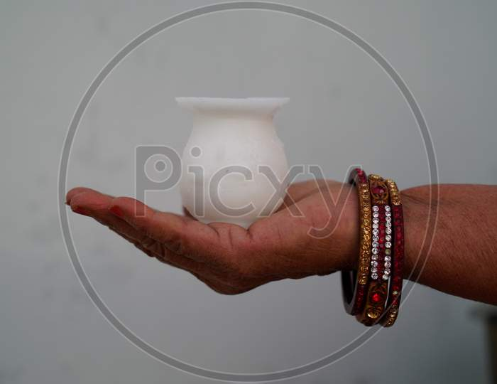 Sugar Karwa And Sugar Toys For Karwachauth Festival, Indian Culture, Happy Karwa Chauth Festival, A One-Day Festival Celebrated By Hindu Women From Some Regions Of India