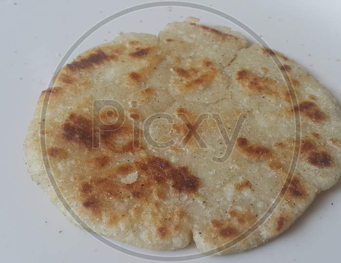 Closeup View Of Of Traditional Home Made Bread Called Jawar Roti Or Bhakri