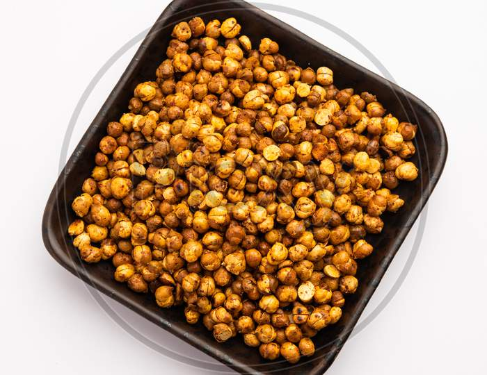 Fried Chickpeas Or Futana Or Chana Is A Spicy And Salty Crispy Snack From India
