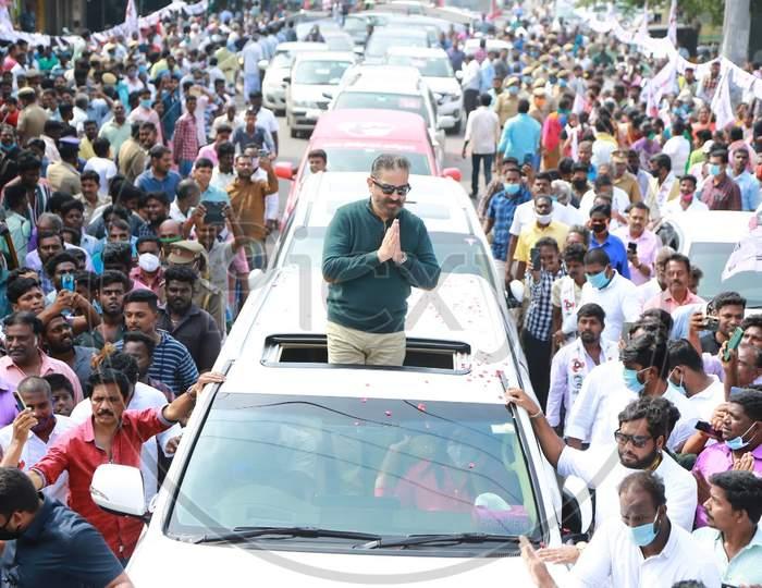 Mnm President Kamal Haasan Election Campaign