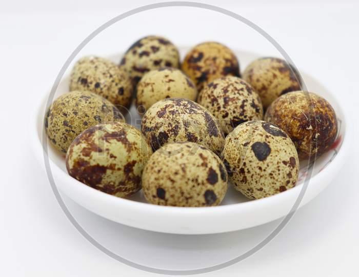 Tasty Bird Egg Stock On Bowl