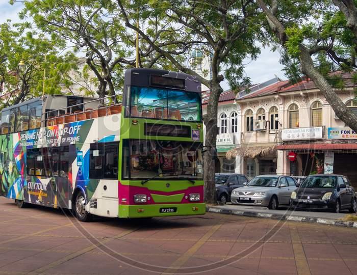 Penang Hop On Hop Off Bus Stop At Heritage Street