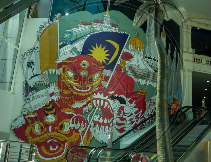 Mural Related To Penang Staff At The Top, Komtar