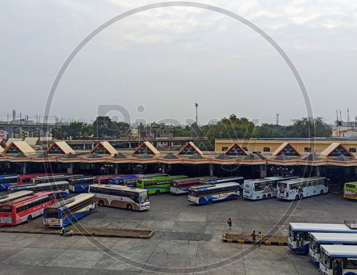 Mahatma Gandhi Bus Station Hyderabad Telangana India