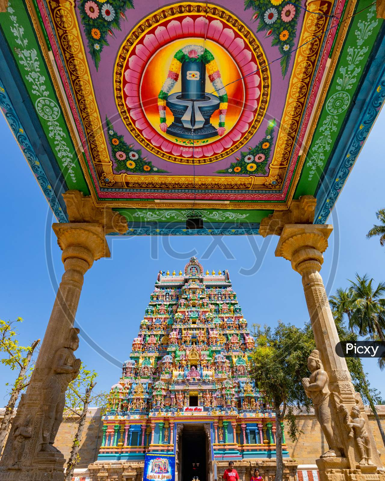 Temple Shrine Of Sri Ranganatha Temple In Sri rangam