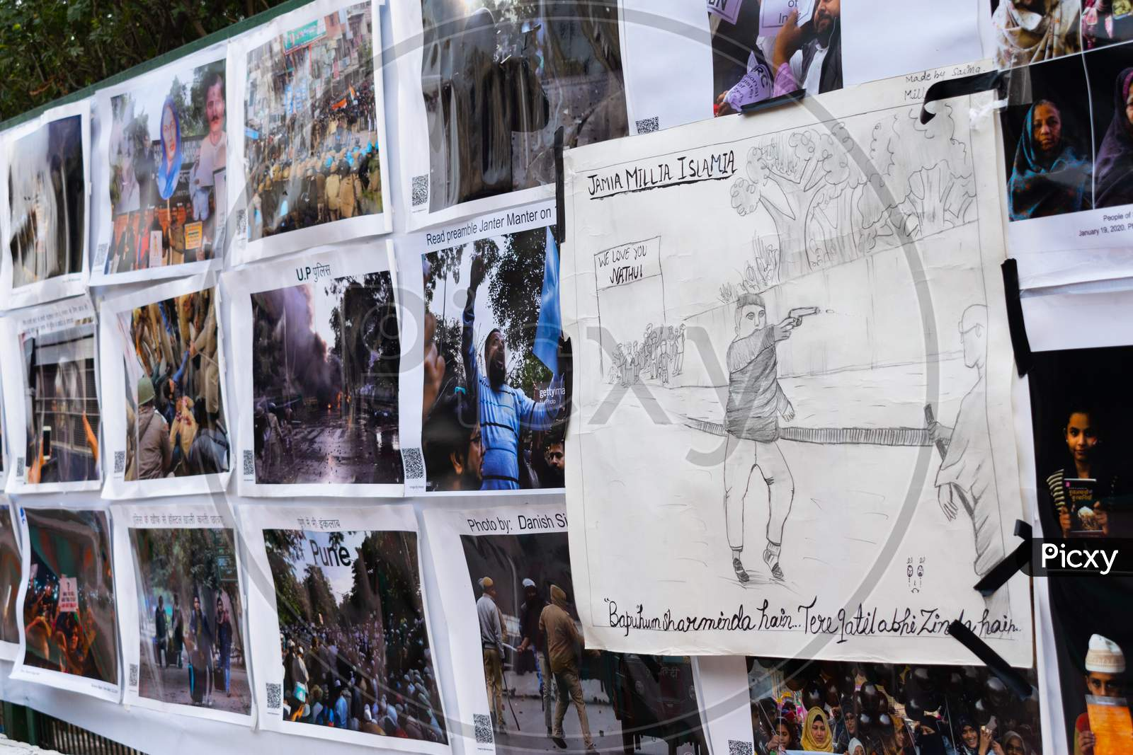 photo exhibition at Shaheen Bagh about events happened during protest Against Citizenship Amendment Act Caa National Register Of Citizens Nrc And National Population Register Npr