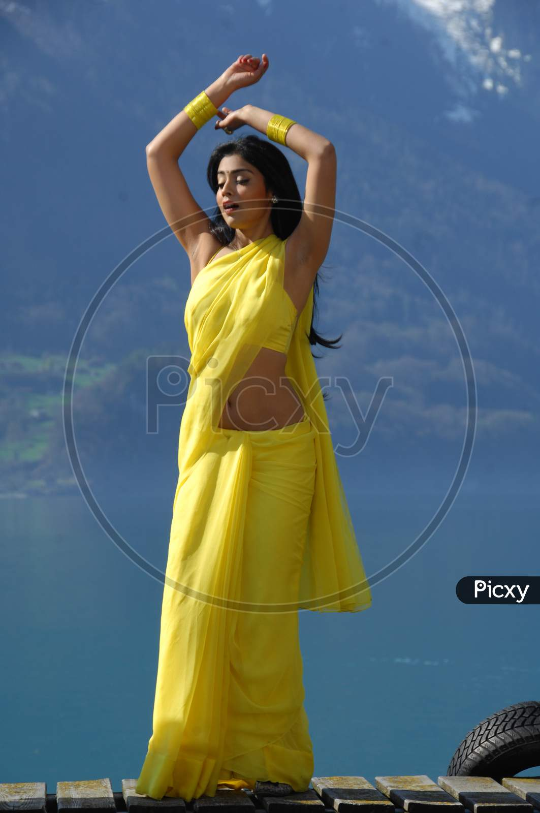 Shriya Saran , South Indian Actress  Movie Working Stills