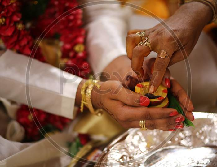 South Indian Wedding Rituals  At An Hindu Wedding Ceremony