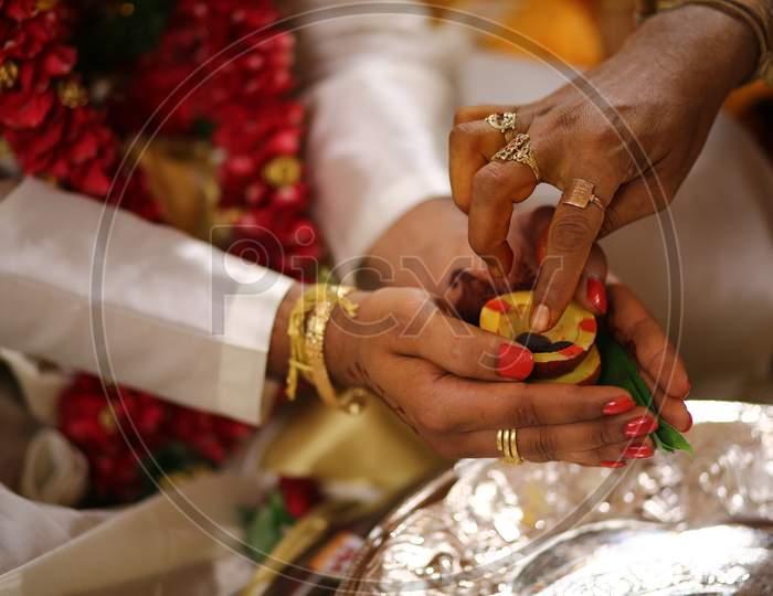 South Indian Wedding Rituals  At An Hindu Wedding Ceremony