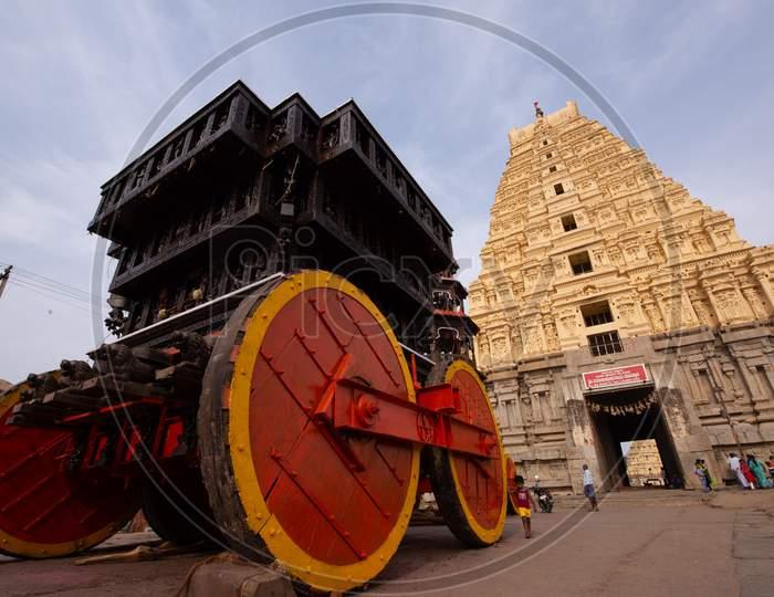 Temple Chariot At Virupaksha  Temple , Hampi