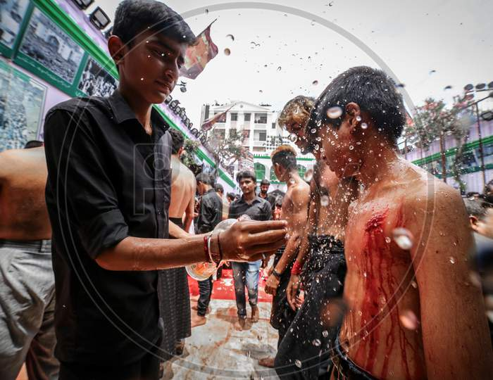 Indian young muslim devotees during Muharram Festival