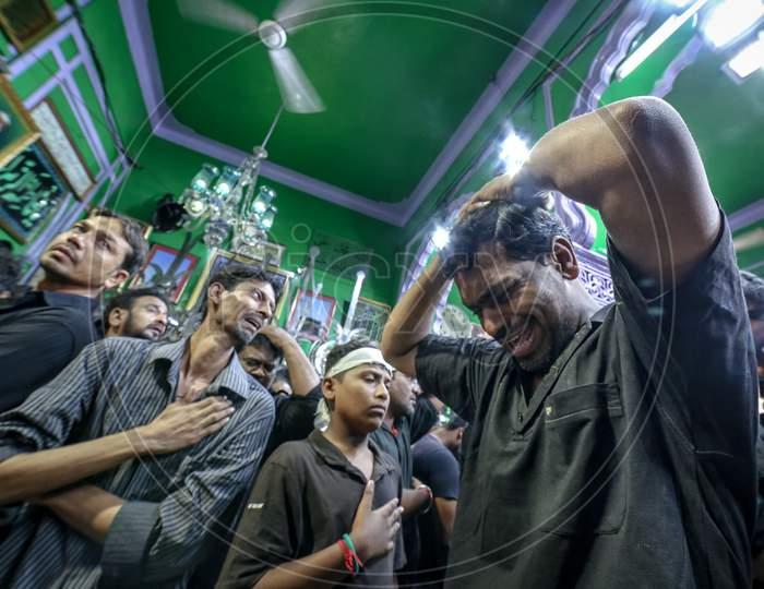 Indian Muslim Men during Muharram Festival