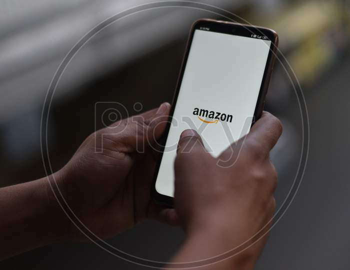 Indian Man logging in on Amazon Shopping App